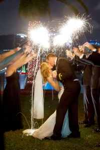 Wedding Sparkler Photography