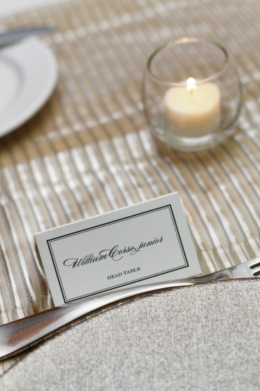 Bride and Groom Place Setting Cards