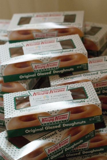 Kirspy Kreme doughnut wedding